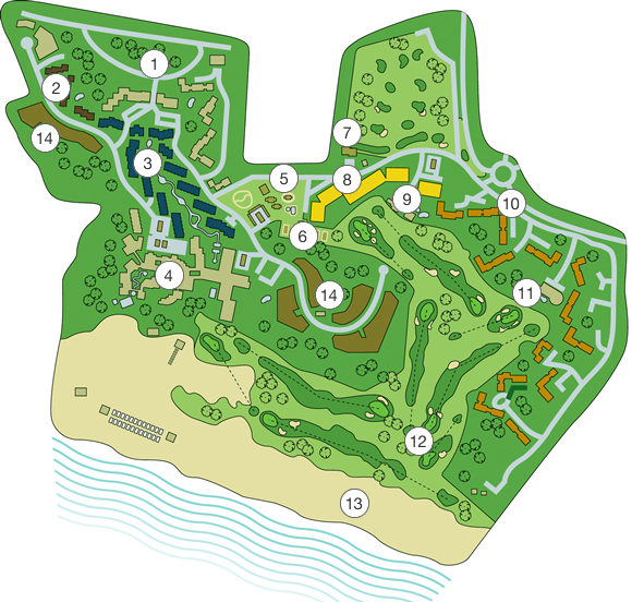 Sheraton Pine Cliffs Resort Map
