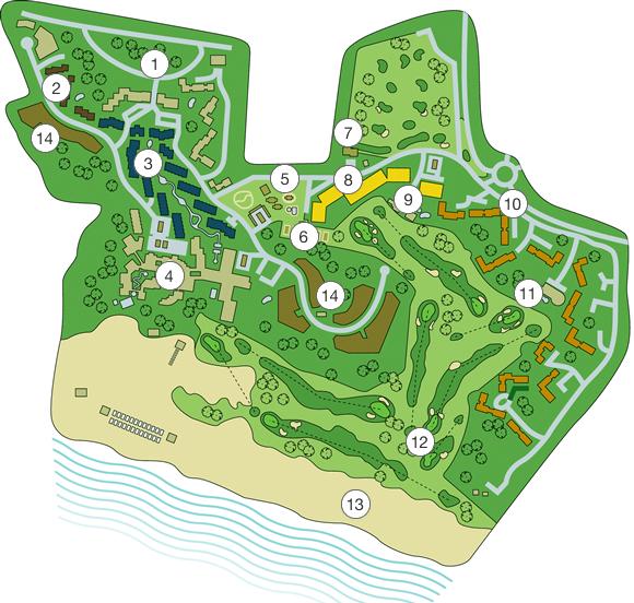 Sheraton Pine Cliffs Resort Map